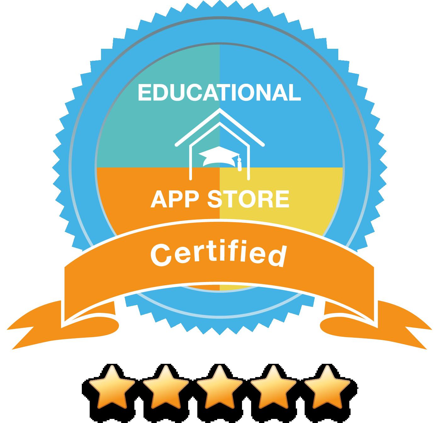 Badge educational app store2